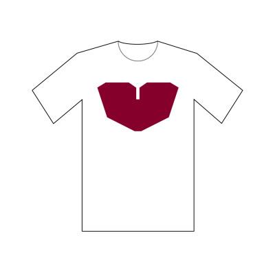 Heart Tee - White $ 25