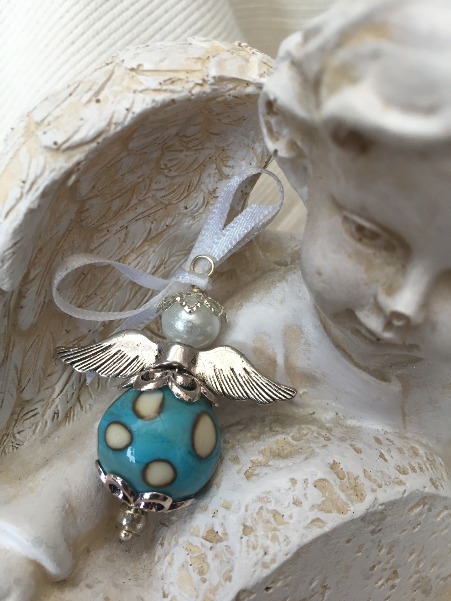 memorial ash cremation angel glass bead