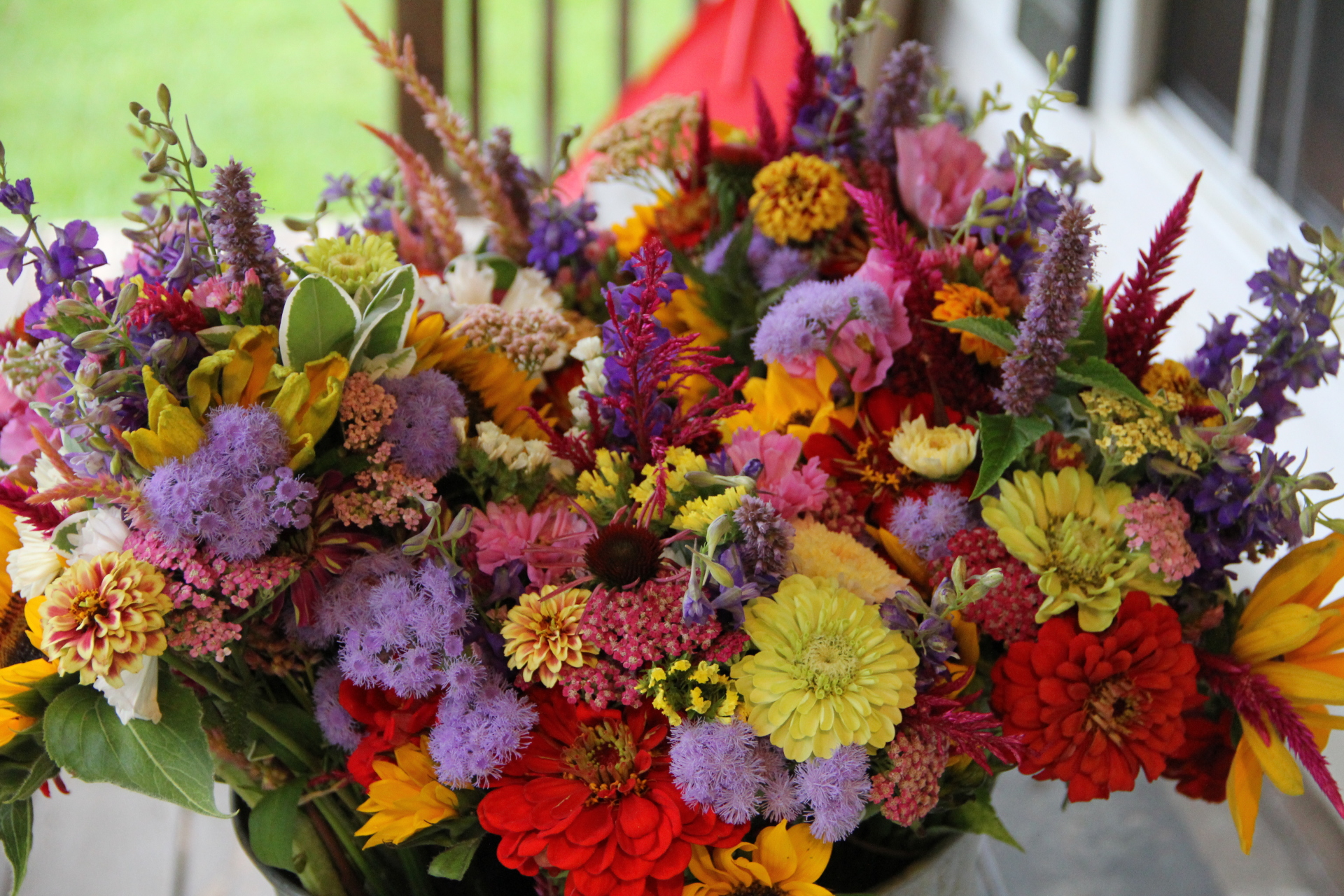 Flowers bouquets made for a farm event