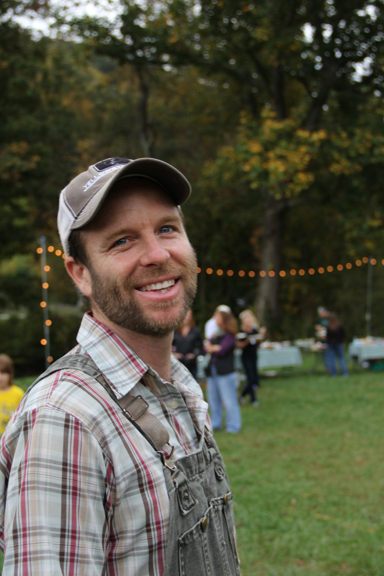 Farm owner, Paul Littman at the 2014 farm party