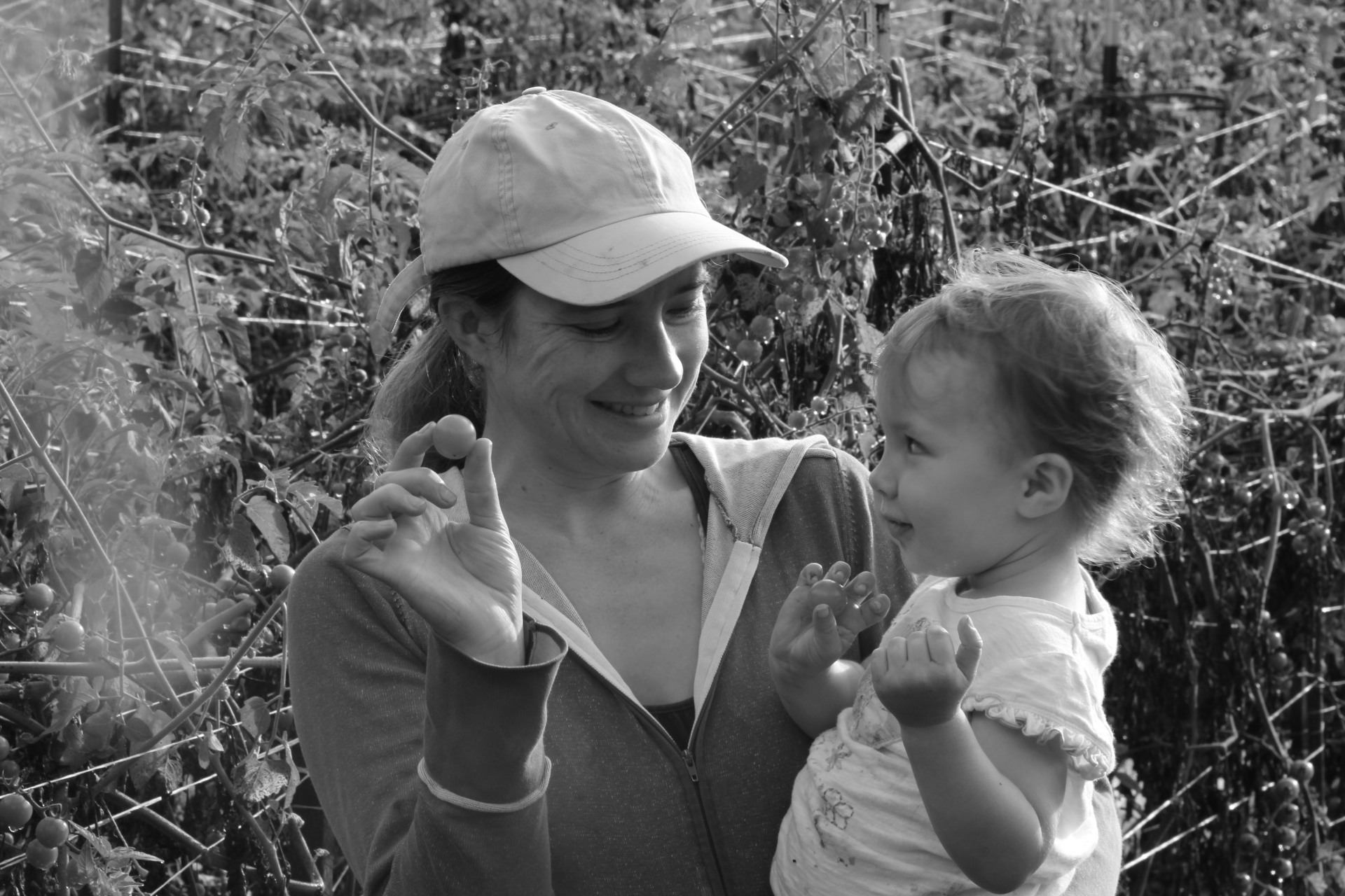 Farm owner, Anna Littman and daughter Leah