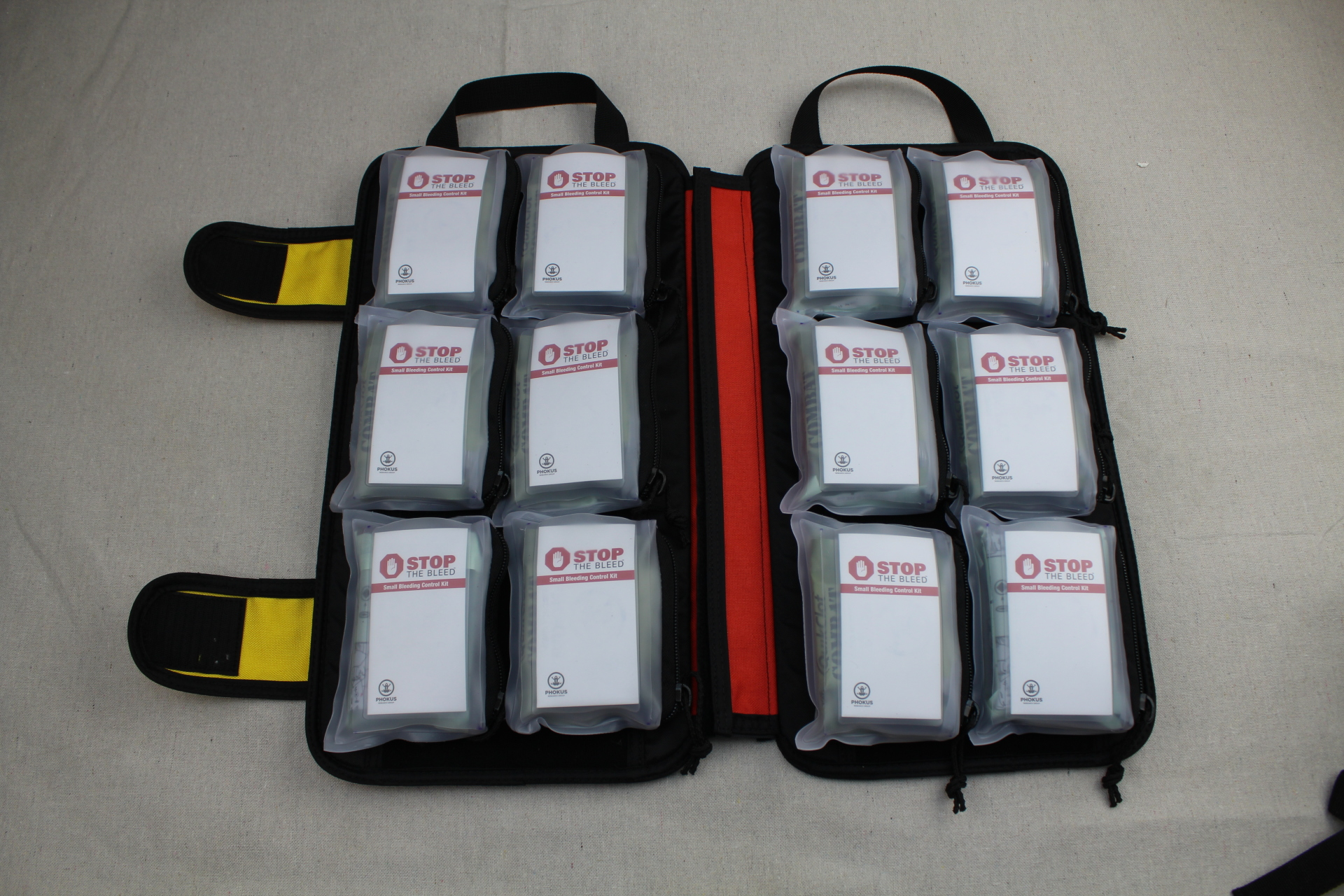 Large Civilian DASH Bag Loaded with Phokus Research Bleeding Control Kits