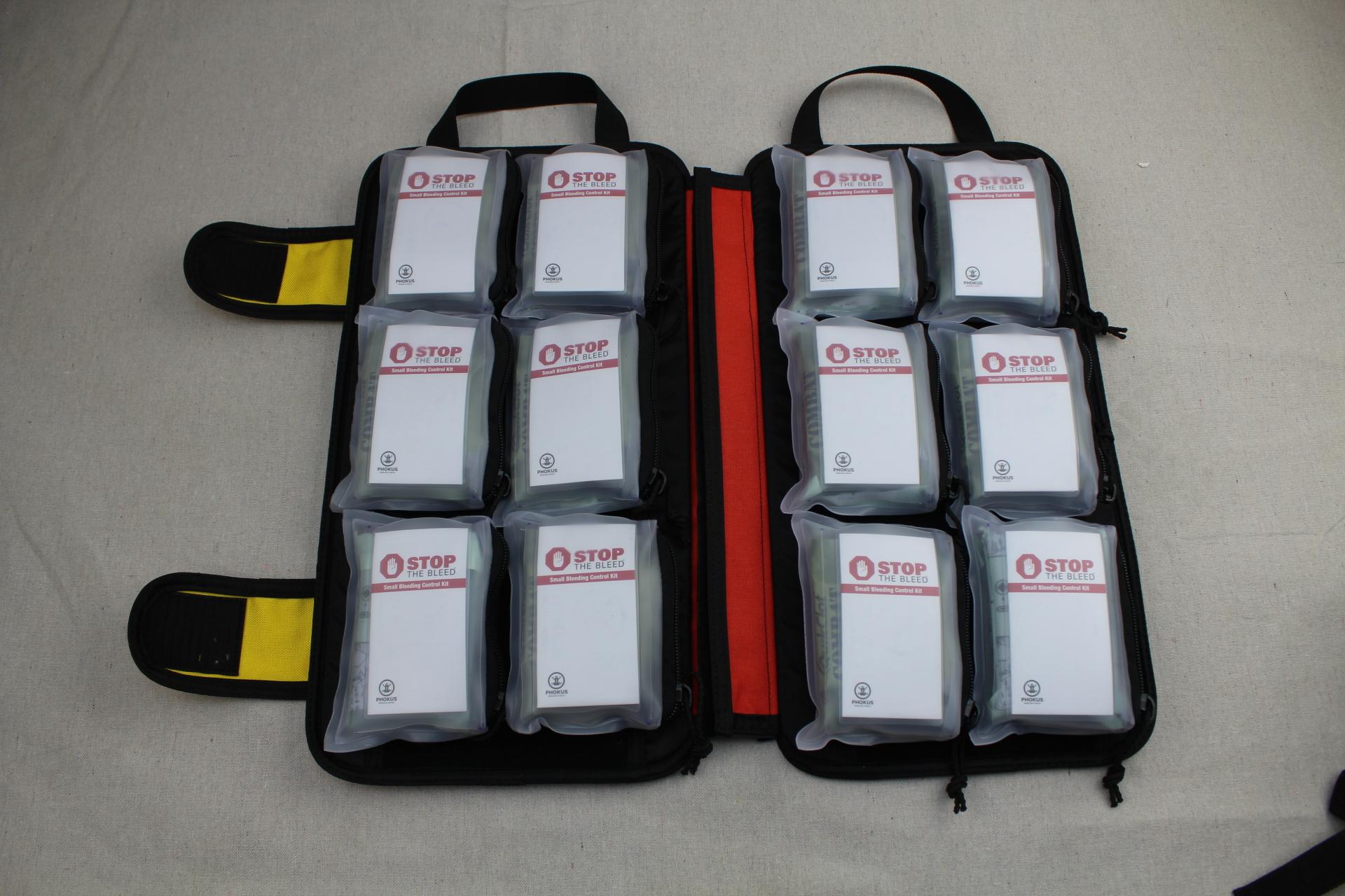 Large Civilian DASH Bag Loaded with Phokus Research Bleeding Control Kits