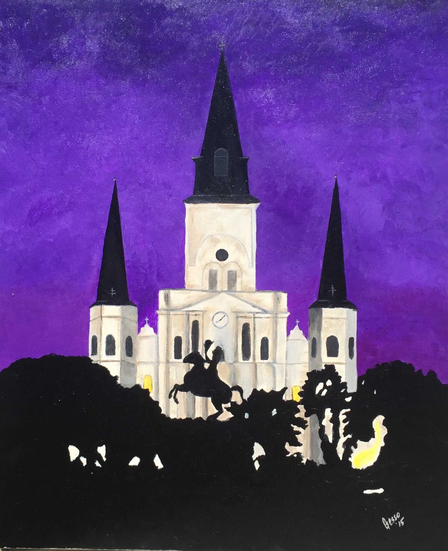 Night Falls in Jackson Square