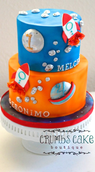 'Out of this World' Space themed Cake