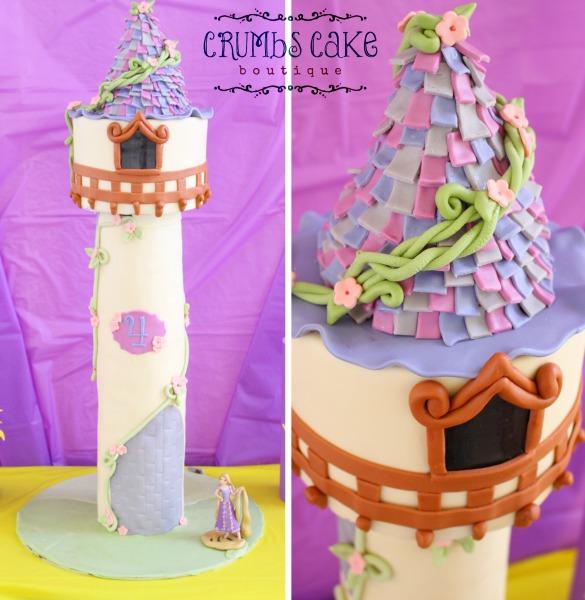 Rapunzel Inspired Cake