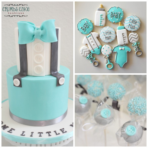 'Welcome Little Man' Baby Shower Cake