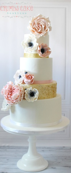 Vintage Glam Wedding Cake