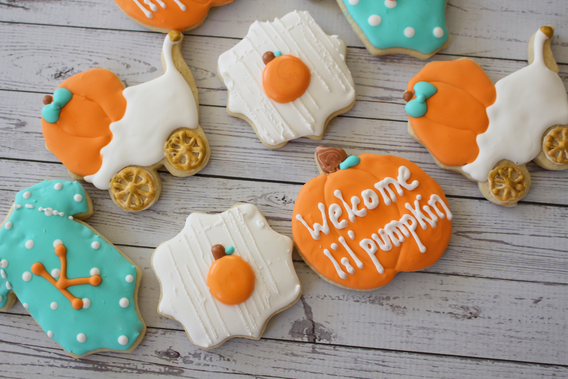 Lil' Pumpkin Baby Shower Set