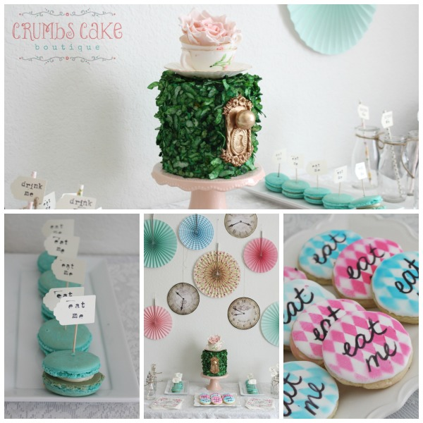 Alice in One-derland Inspired Dessert Table