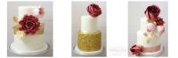 tucson wedding cakes, weddings, luxury weddings, marsala, gold, blush, vintage, cake