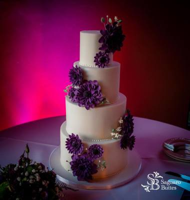 Daisy Wedding Cake by Crumbs Cake Boutique