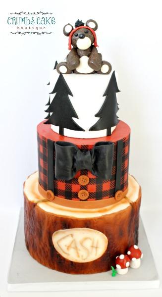 tucson cakes, baby shower cakes, tucson bakery, marana bakery, lumberjack cake