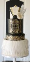 great gatsby wedding, tucson wedding cakes, tucson bakery