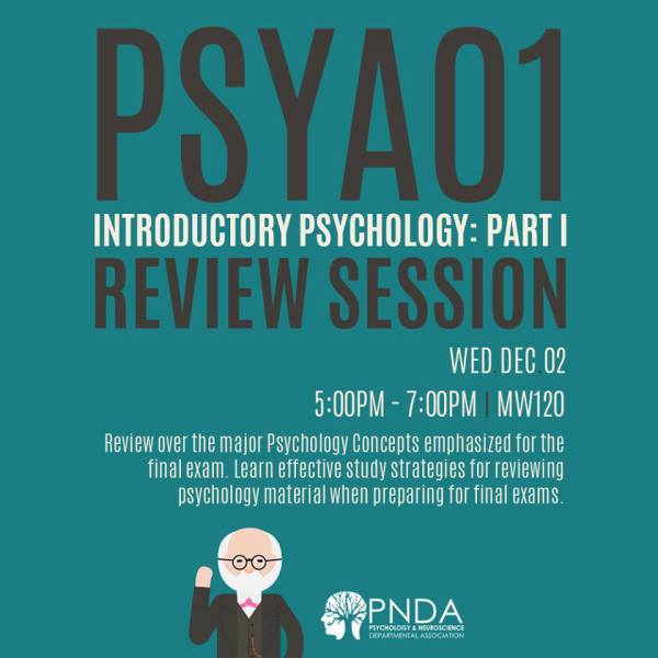 PSYA01 Review Session