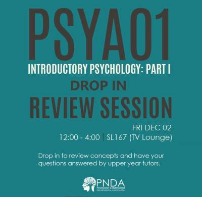 PSYA01 Drop In Review Session