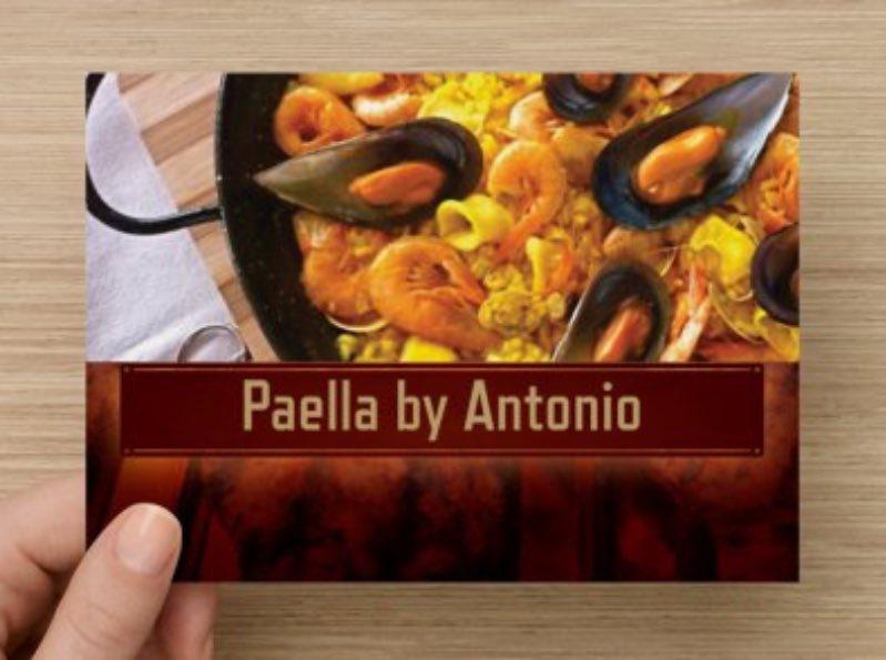 paella by antonio business card