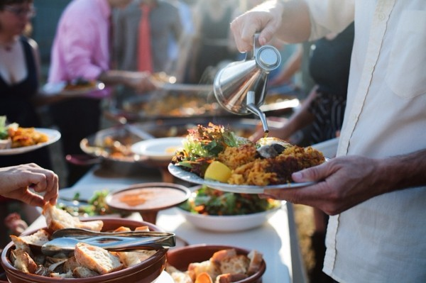 paella catering wedding