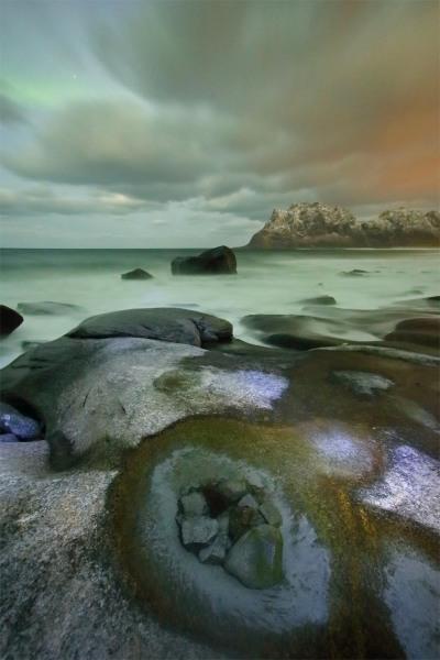 Utakliev aurora, Lofoten Islands, Norway T110