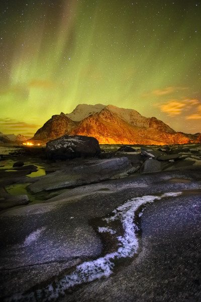 Utakliev aurora, Lofoten Islands, Norway T122