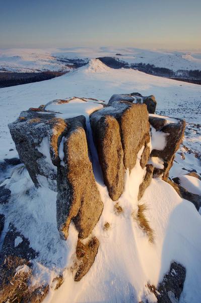 Leather Tor winter, Dartmoor, UK L115