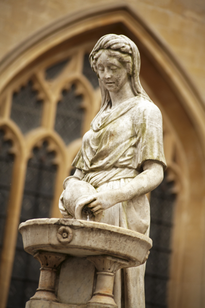 Bath Abbey statue, UK N119