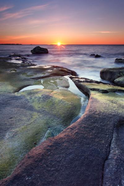 Midnight sun, Lofoten Islands, Norway T124