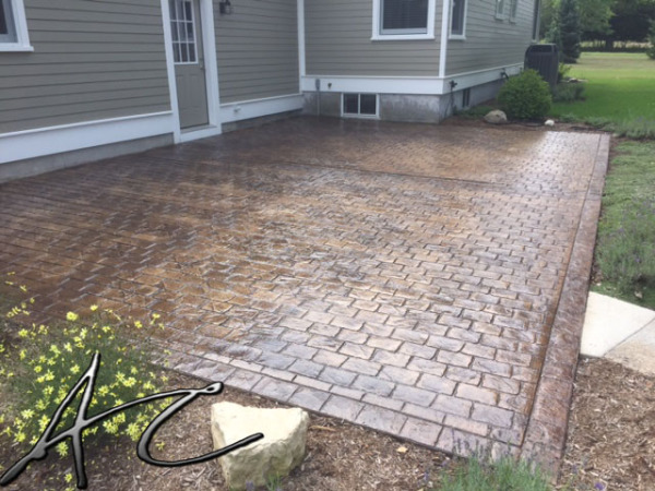 Cobble Stone Stamped Patio