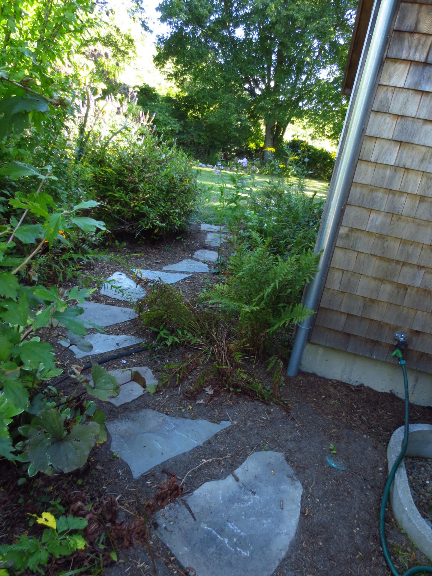 walkway plantings
