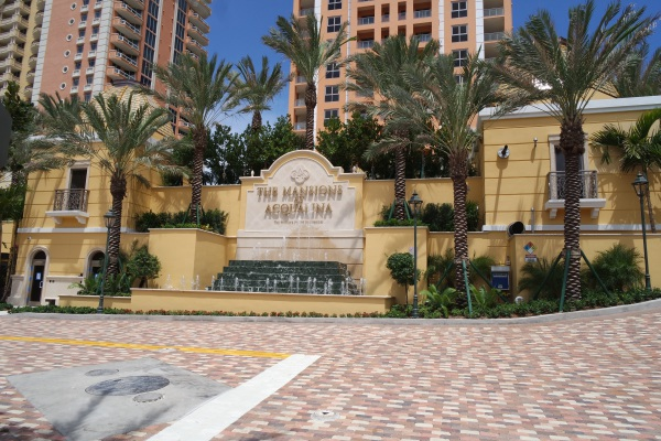 Mansions at Acqualina Miami driveway entrance to the residences