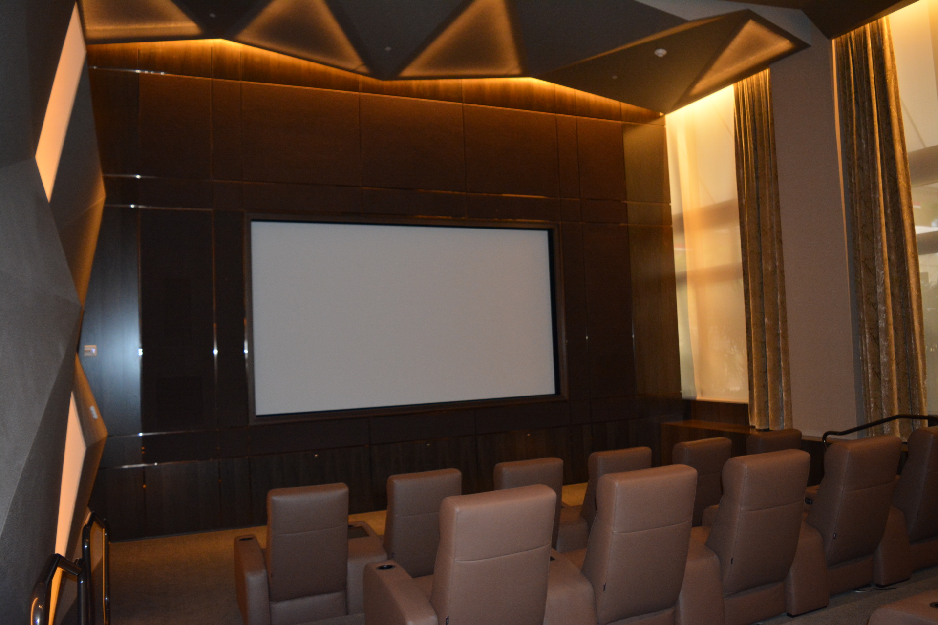 Mansions At Acqualina private movie theater