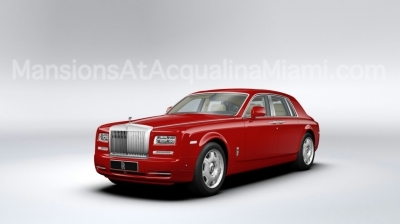 Mansions At Acqualina's Chauffeur Driven Red Rolls Royce
