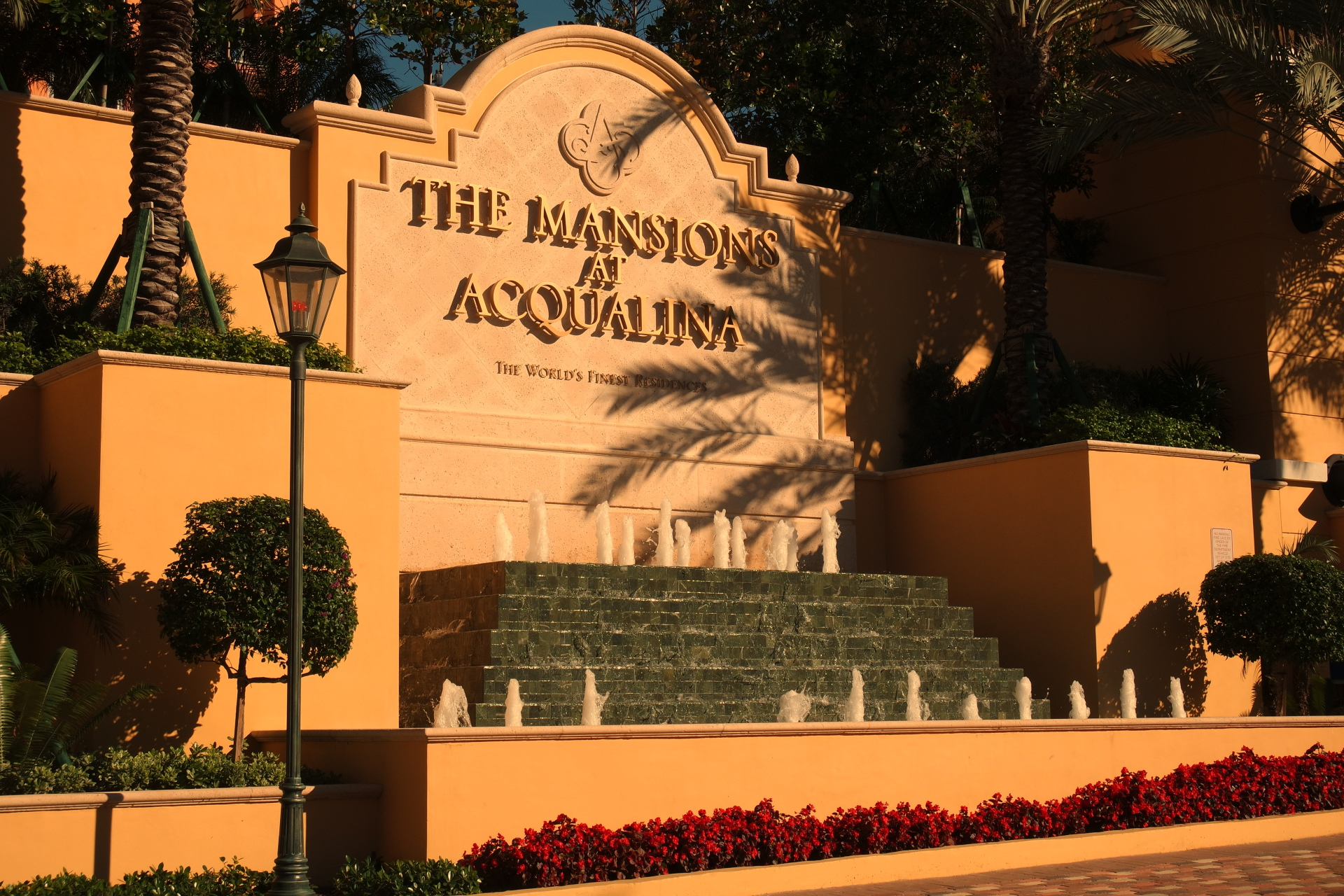 Mansions At Acqualina Miami Entrance Fountain