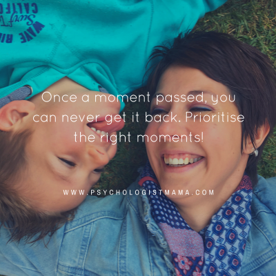 Prioritise special moments