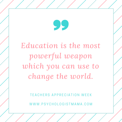 We appreciate teachers!