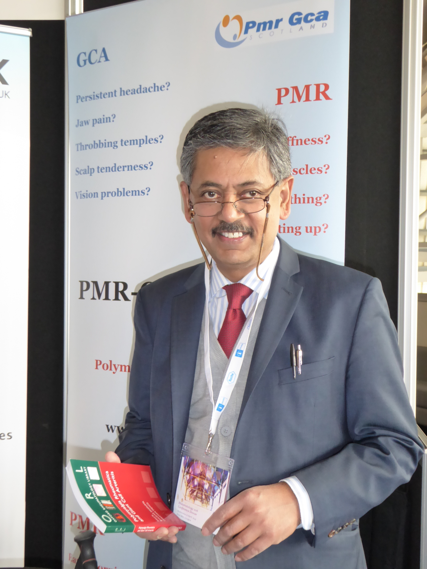 Professor Dasgupta at the PMRGCAuk AGM, June 2016