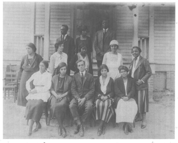 Principal J. Stevens and Staff circa 1907