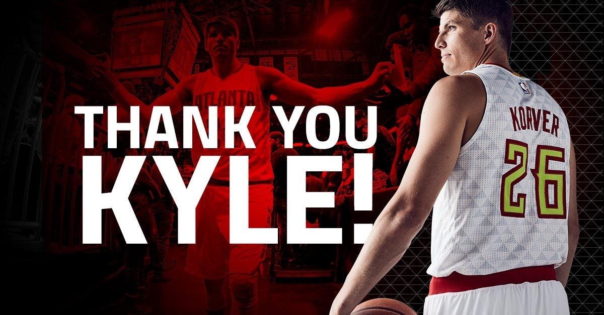 Atlanta Bids Farewell to Their 3-point Assasin, Kyle Korver