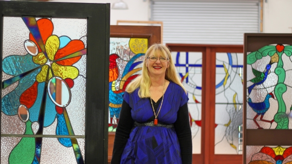 Mandy Wood Stained Glass Gallery inside