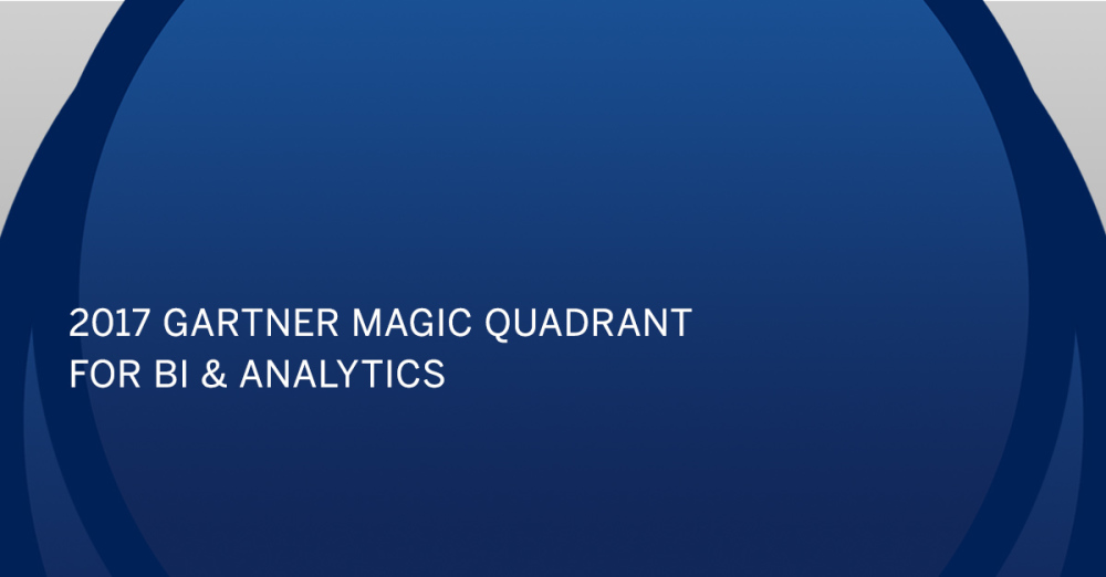 Tableau five years a leader in Gartner's Magic Quadrant for Analytics