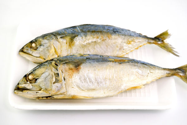 Steamed mackerel