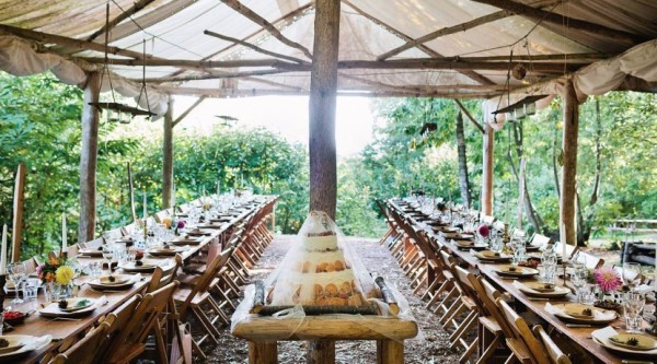 Wooden Table and Chair Hire