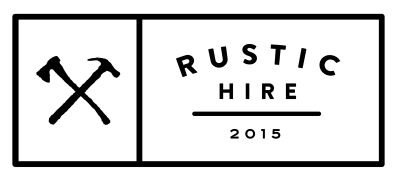 Rustic Hire logo since 2015