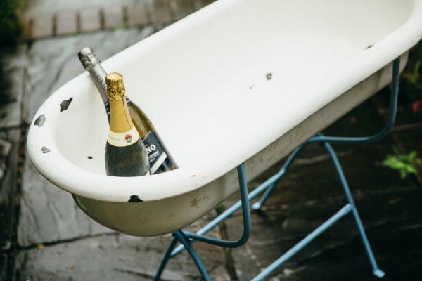#Enamel Baby Bath #rustic #hire #weddings #icebath