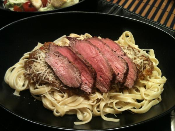 Flank Steak Fettuccine