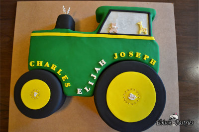 tractor baby shower cake