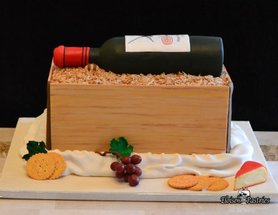Wine Bottle Picnic Cake