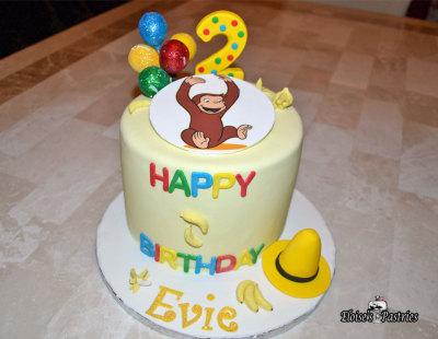 curious george cake, curious george birthday cake