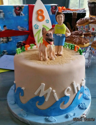 Surfer Birthday Cake, Beach Cake