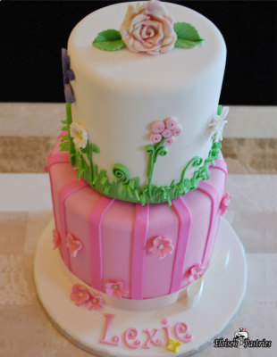 Dainty Flower Power Birthday Cake